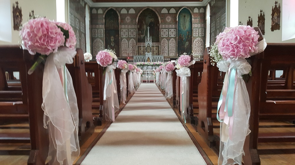 spiral aisle wedding ceremony decoration wedding hire specialists