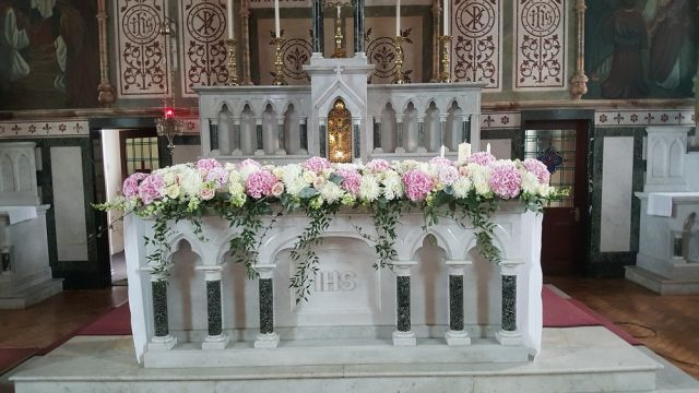 altar flowers wedding decor n.ireland