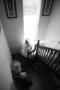 wedding photography ideas northern ireland stairs house morning of wedding