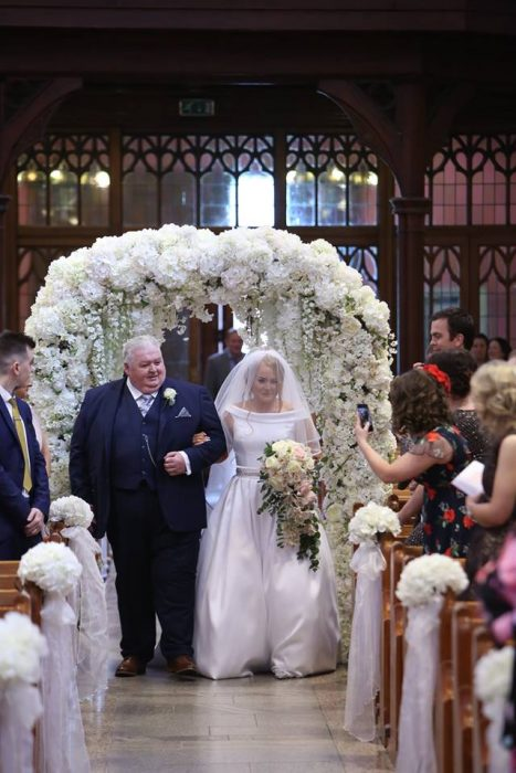cherry blossom arch northern ireland wedding decor ceremony ideas floral decor
