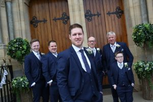 conor and his grooms party gents buttonholes wedding northern ireland st.michaels enniskillen
